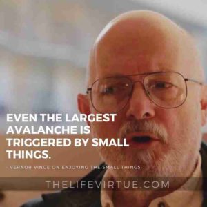 Even the largest avalanche is triggered by small things. - Vernor Vinge