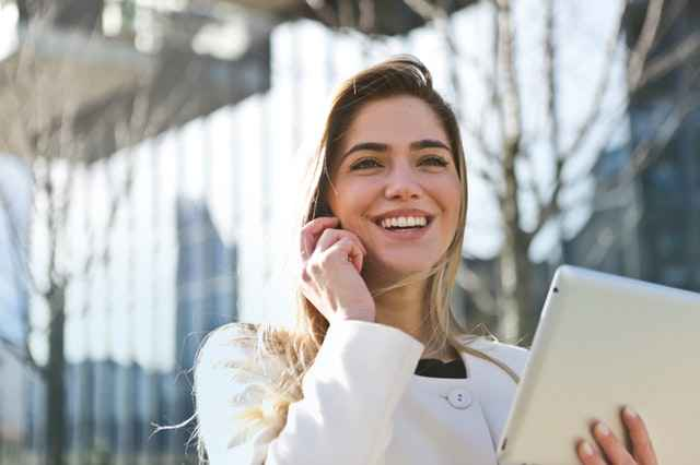 Happy Woman Walking - Benefits of intrapersonal Skills