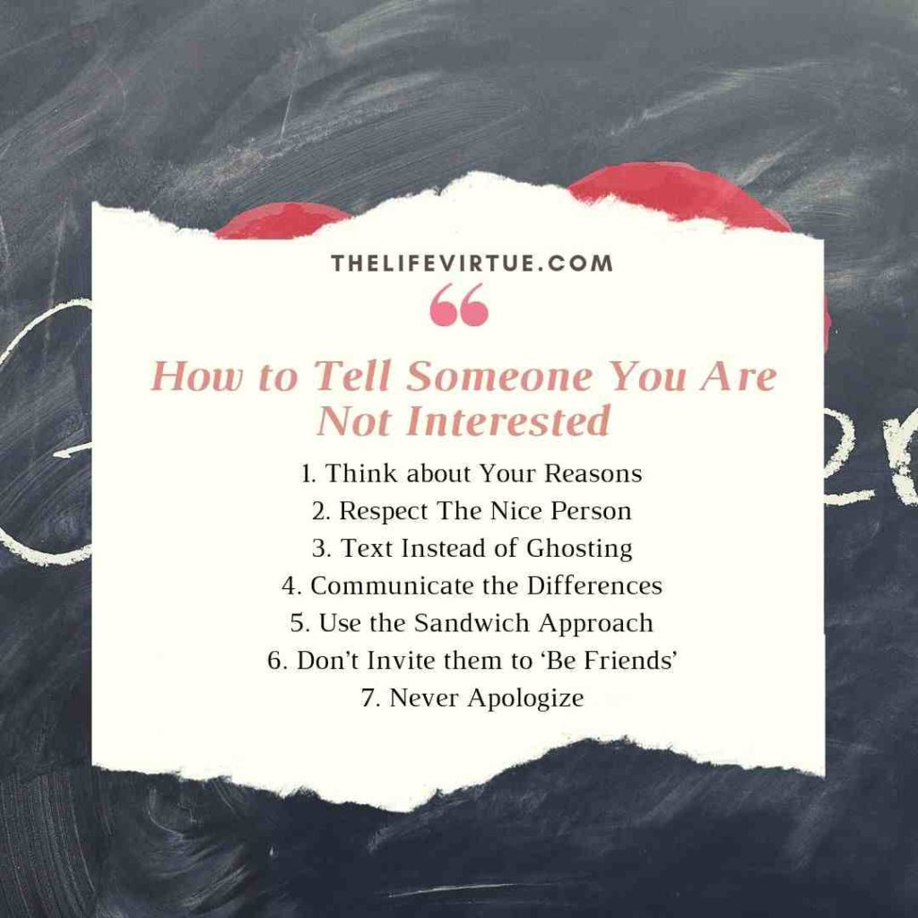 Tips on How to tell someone you are not interested