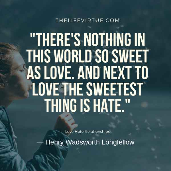 Sayings on Love Hate Relationships