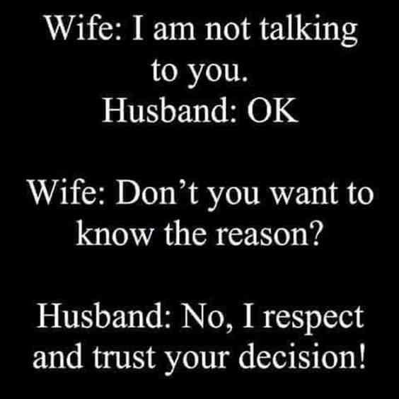 Silent Treatment Meme between Couple