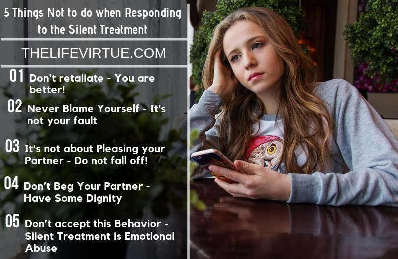 Things Not to do when Respond to the Silent Treatment