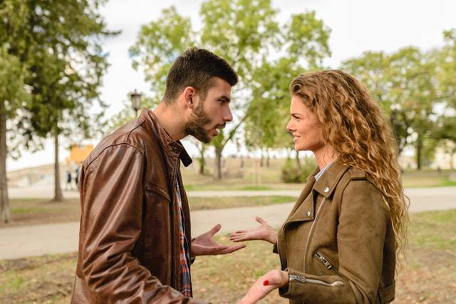 Couple Having Conflict with each other in a love hate relationship