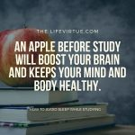 eating an apple before study