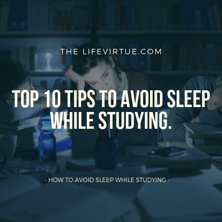 A woman gets sleepy while study at night