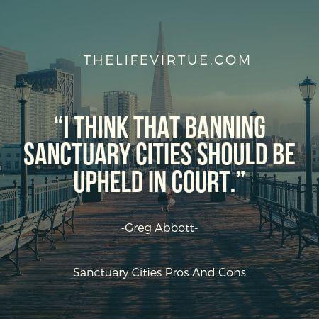Some people argue that sanctuary laws should not be enforced