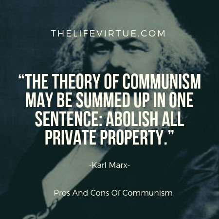 Communism is a system of social order and organization.