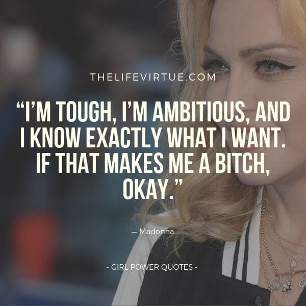 Madonna Quotes on Girl Power