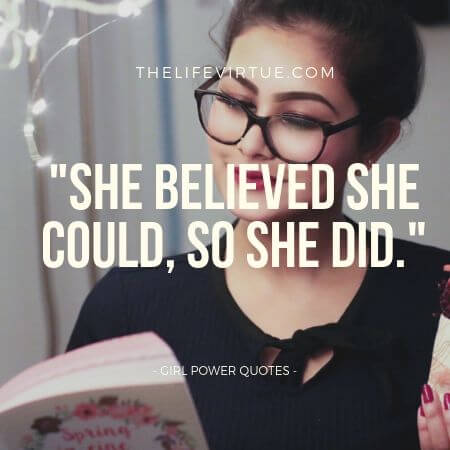 Girl Power Quotes on Belief