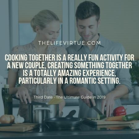 Third Date Night idea of Cooking Together