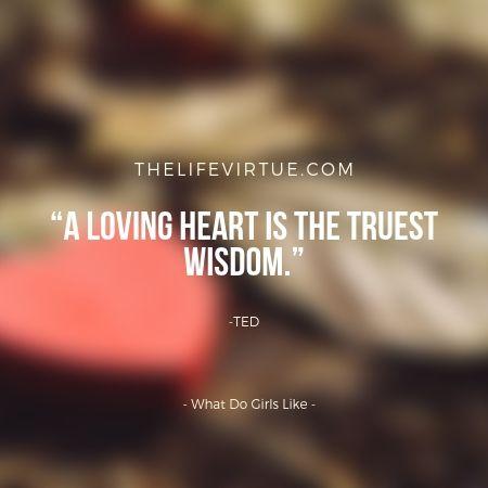 A loving heart is truest wisdom