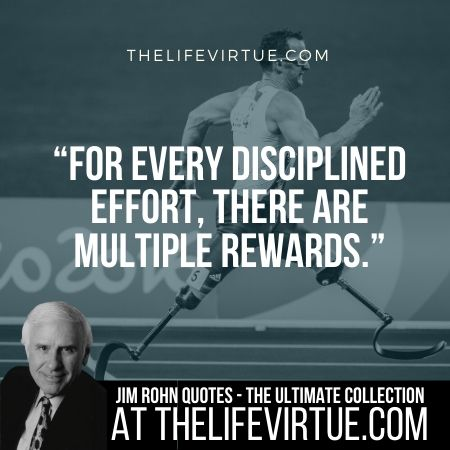 Jim Rohn Quotes and Sayings on Disicpline and Rewards