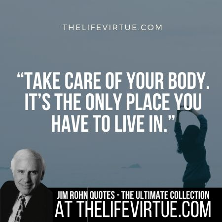 Jim Rohn Quotes and Sayings on Health
