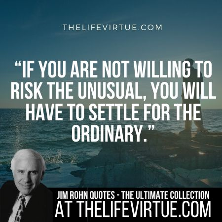Jim Rohn Quotes and Sayings on Risk