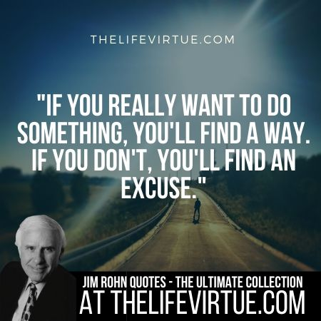 Jim Rohn Quotes on Excuses