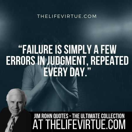 Jim Rohn Quotes on Failure