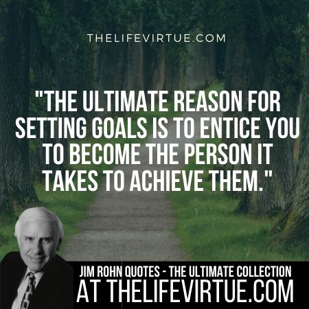 Jim Rohn Quotes on Goal Setting