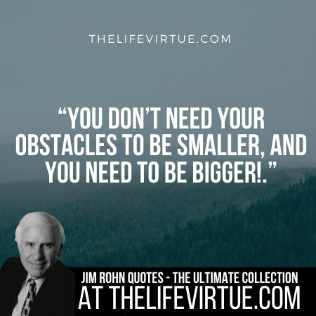 Jim Rohn Quotes on Obstacles