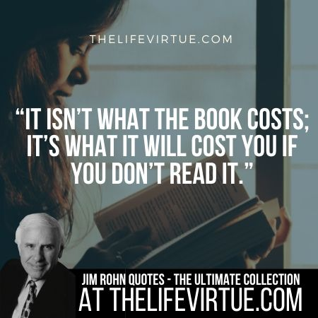 Quotes of Jim Rohn on Book Reading