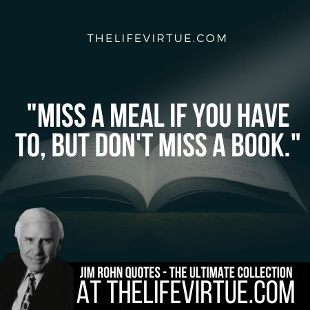 Quotes of Jim Rohn on Books