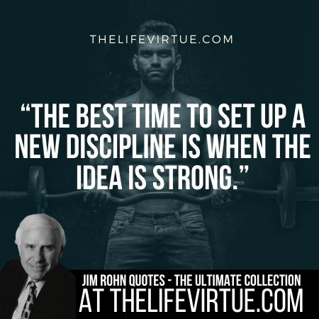 Quotes of Jim Rohn on Discipline