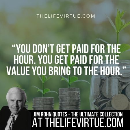 Quotes of Jim Rohn on Getting Paid