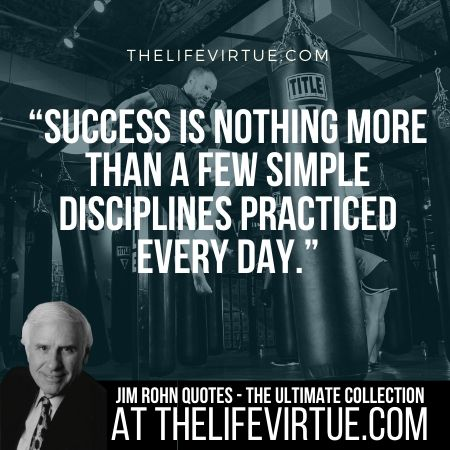 Sayings of Jim Rohn on Discipline