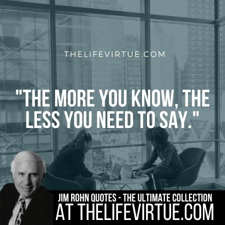 Sayings of Jim Rohn on Knowledge