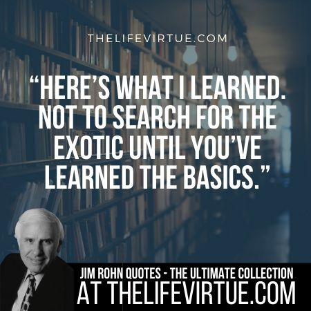 Sayings of Jim Rohn on Learning