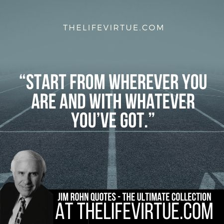 Sayings of Jim Rohn on Starting