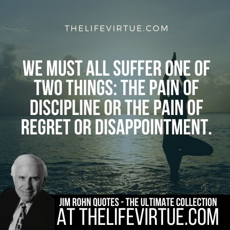 Sayings of Jim Rohn on Suffering