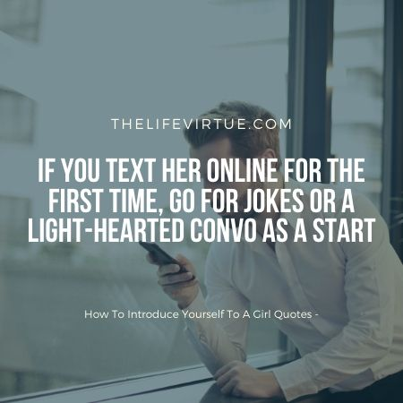 A light conversation is the key to a girl's heart