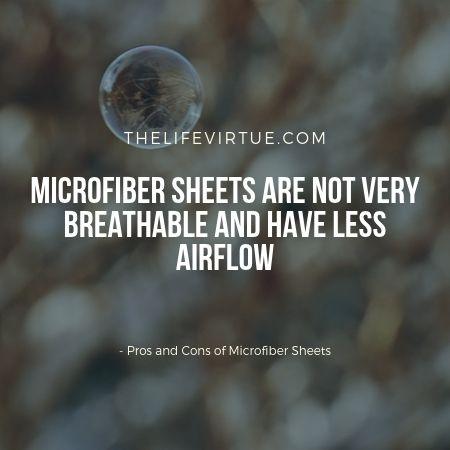 merits and demerits of microfiber sheets