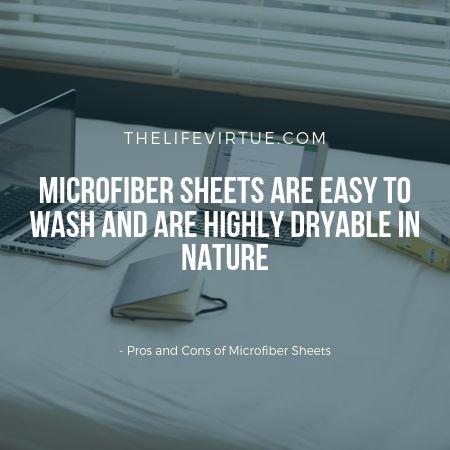 biggest advantages of microfiber sheets