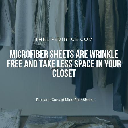 Biggest benefit of microfiber sheets