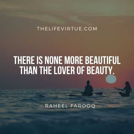Aesthetic Quotes on Beauty by Raheel Farooq
