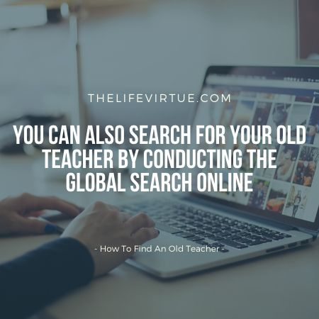 How To Search for an Old Teacher?