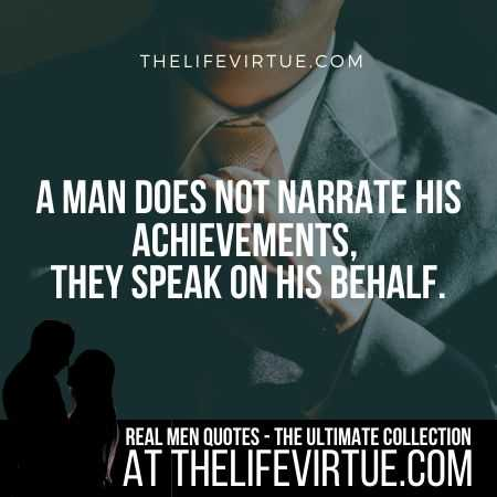 Man Quotes on Achievements and Success