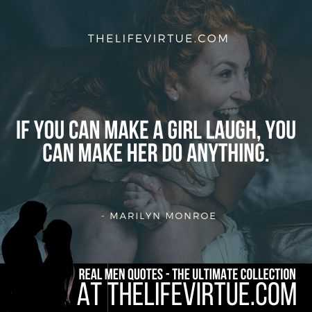 Man Quotes on Making a Girl Smile by Marilyn Monroe
