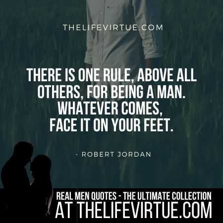 Real Man Quotes on Challenges