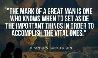 Real Man Quotes on Mark of a Great Man