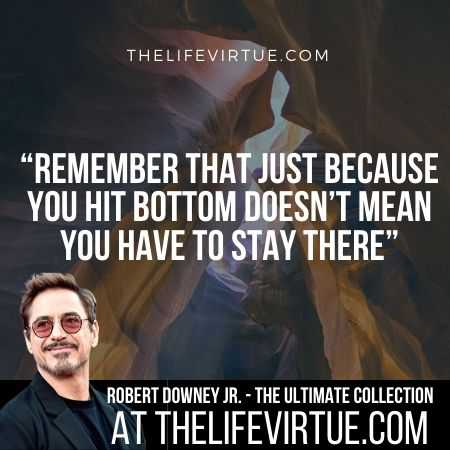 Robert Downey Jr. Quotes on Failures