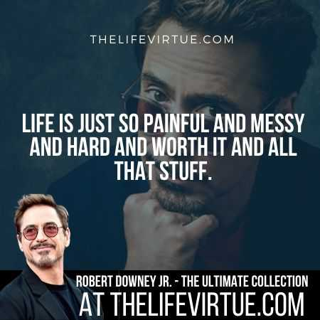 Robert Downey Jr. Quotes on Pain