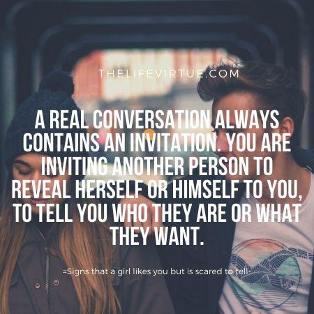 Having proper conversations