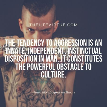 Tendency to aggression- Frustration aggression theory