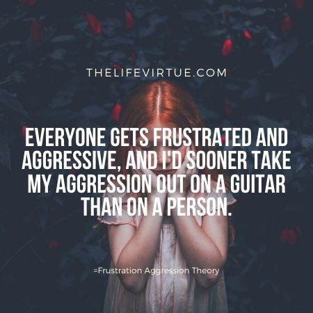 Taking out anger-Frustration aggression theory