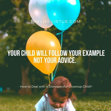 Children following example of parents