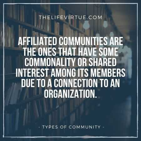 Affiliates Communities are another one from the types of communities