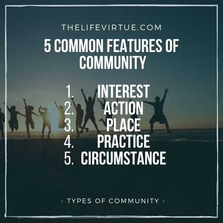 Common Features of Communities