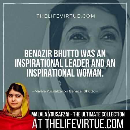 Malala Yousafzai Quotes on Benazir Bhutto